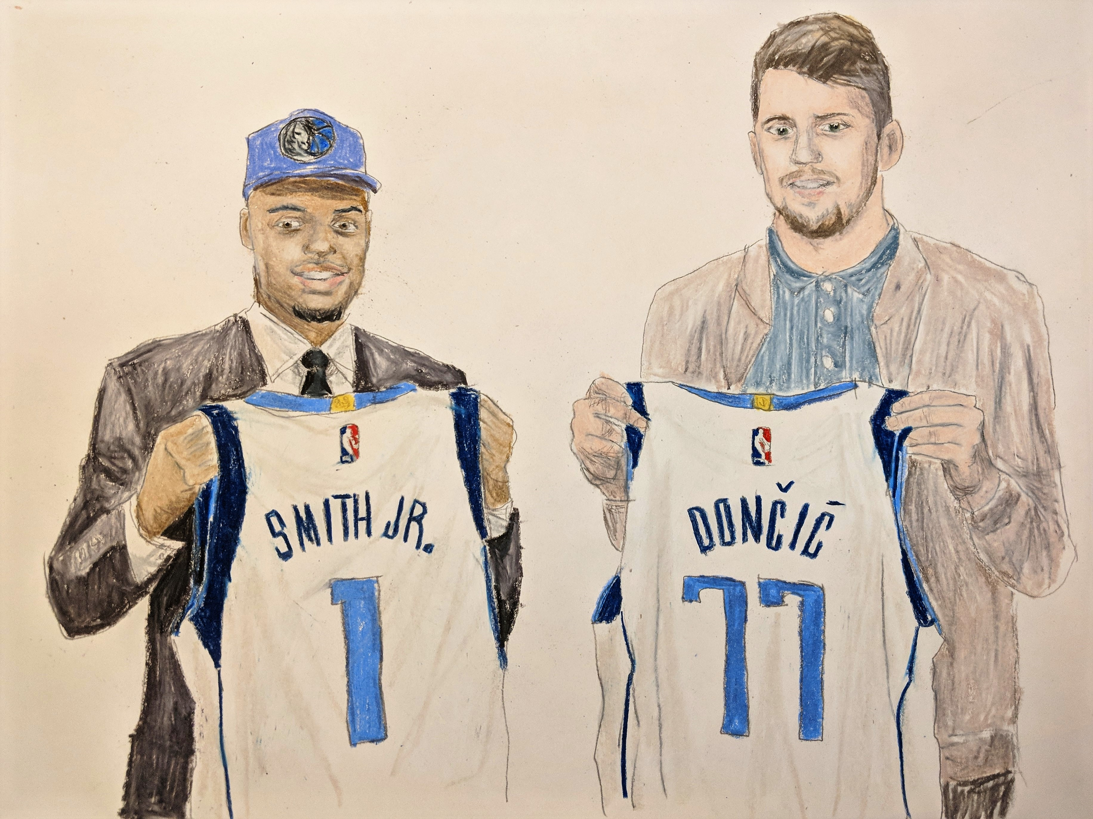 cheap for discount 1c967 25f4f Luka Doncic and Dennis Smith Jr, Dallas Mavericks | Amdall ...